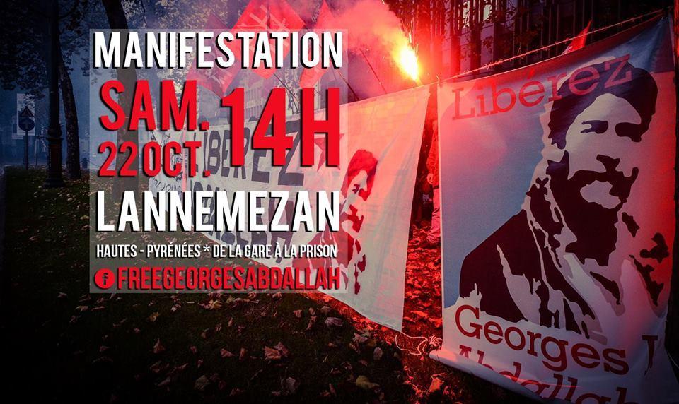 Semaine internationale d'actions pour la libération de Georges Ibrahim Abdallah.