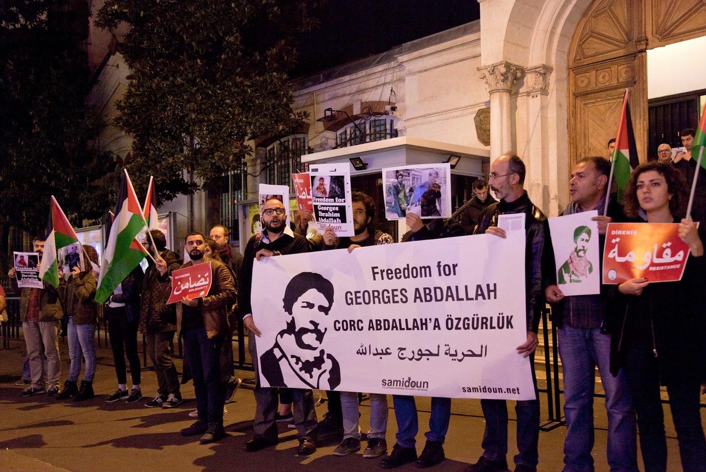 Succès de la semaine internationale d'actions pour la libération de Georges Abdallah !