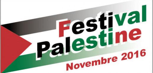 Festival Palestine en région lilloise, du 4 novembre au 3 décembre 2016.