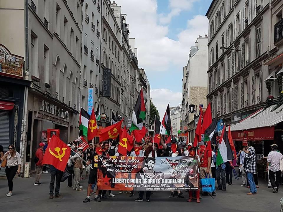 Succès de la manifestation pour la libération de Georges Ibrahim Abdallah dans - DATE A RETENIR manif-GA-170617-1