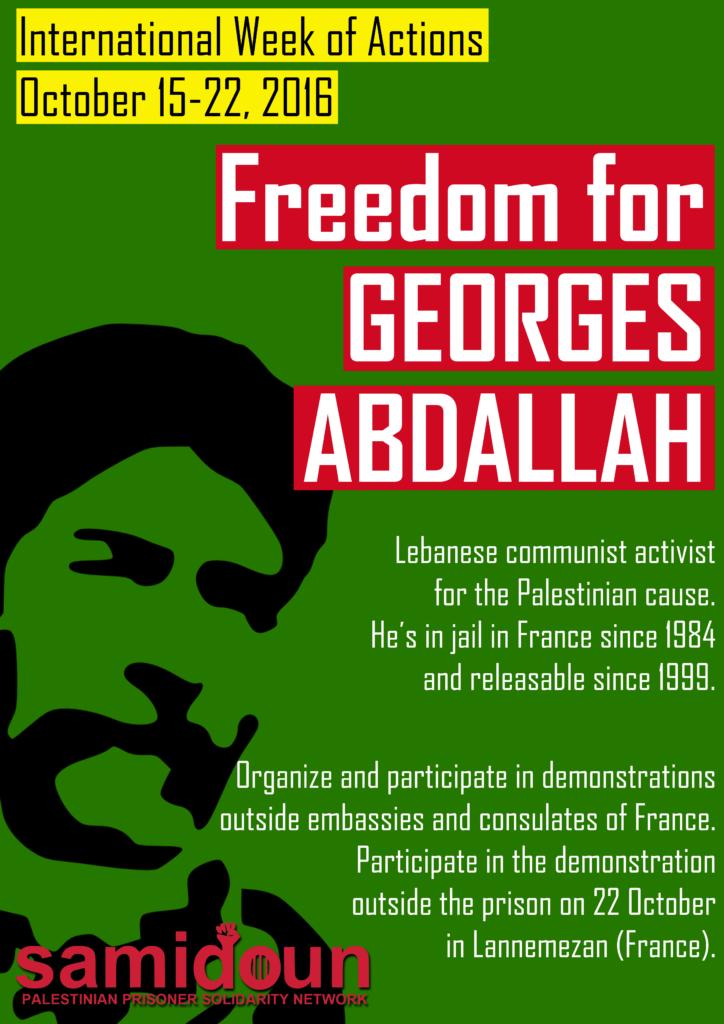 Mobilisation pour exiger la libération de Georges Ibrahim Abdallah.